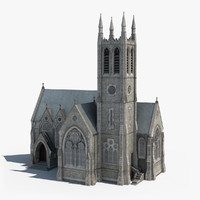 3d ireland gothic church model