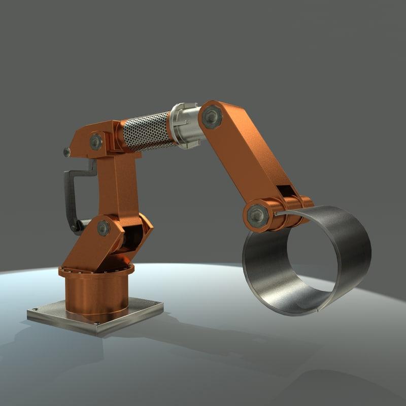 mechanical arm 3d max