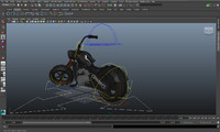 3d bike rigged model