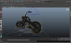 3d bike rigged model