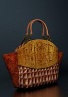 3d model leather whiskey bag