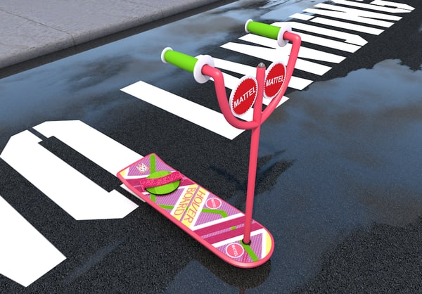 3d hoverboard future model