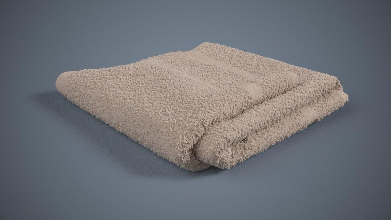 3d model towels 2016