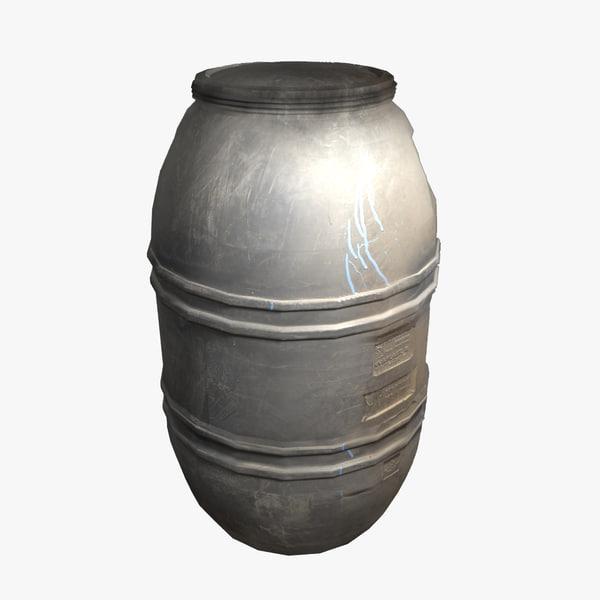 plastic barrel 3d model