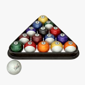 billiard ball 3d obj