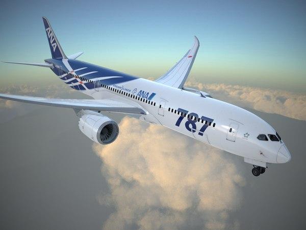 3d model boeing 787 dreamliner ana