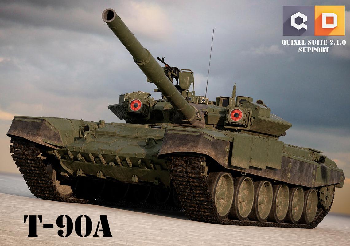 t-90s russian tanks 3d model