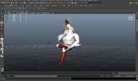 3d rig chicken cartoon model
