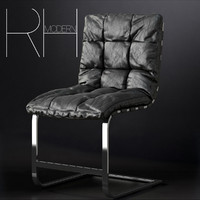 3d rossi leather chair model