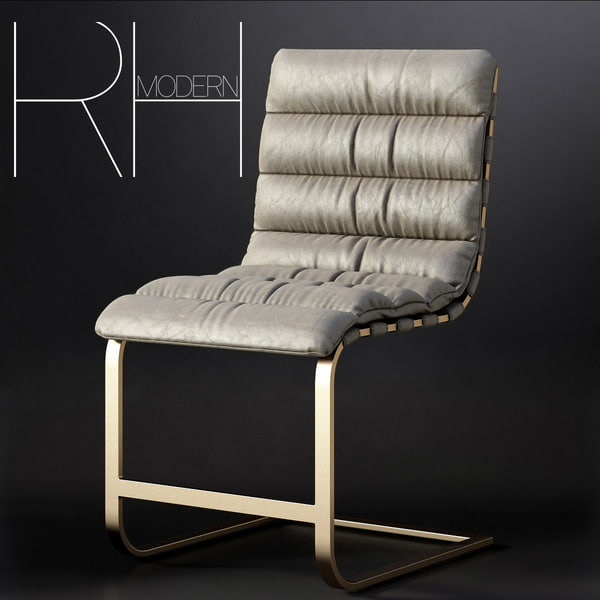 3d oviedo leather chair model
