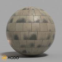 Cobblestone pavement material (modo version)