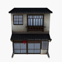 3d japan house japanese model