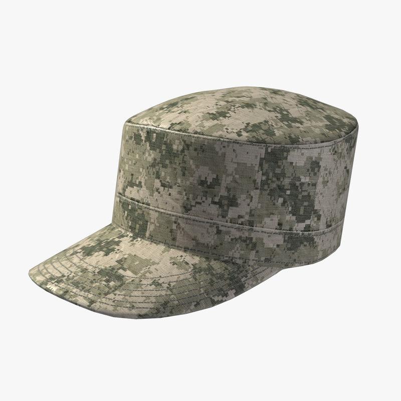 patrol cap 3d model