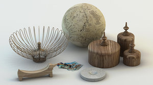 3d decoration objects model