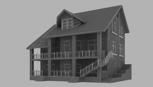 3d model storey house