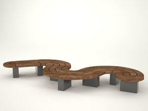 curve bench 3ds