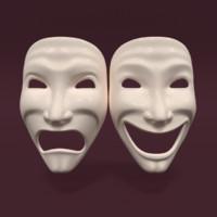 3d model theatre mask
