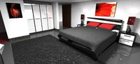 modern bed room model (sale)