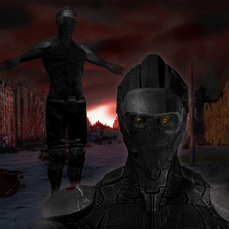 3d armored assassin model