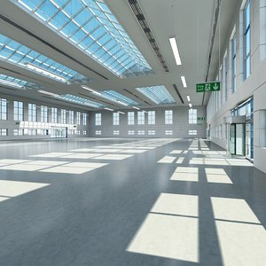 large architectural interior building 3d obj