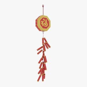 chinese new year firecracker 3d max