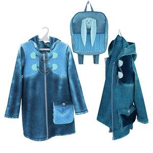 jacket hanger hook coat 3d model