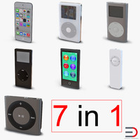 iPod 3D Models Collection 3
