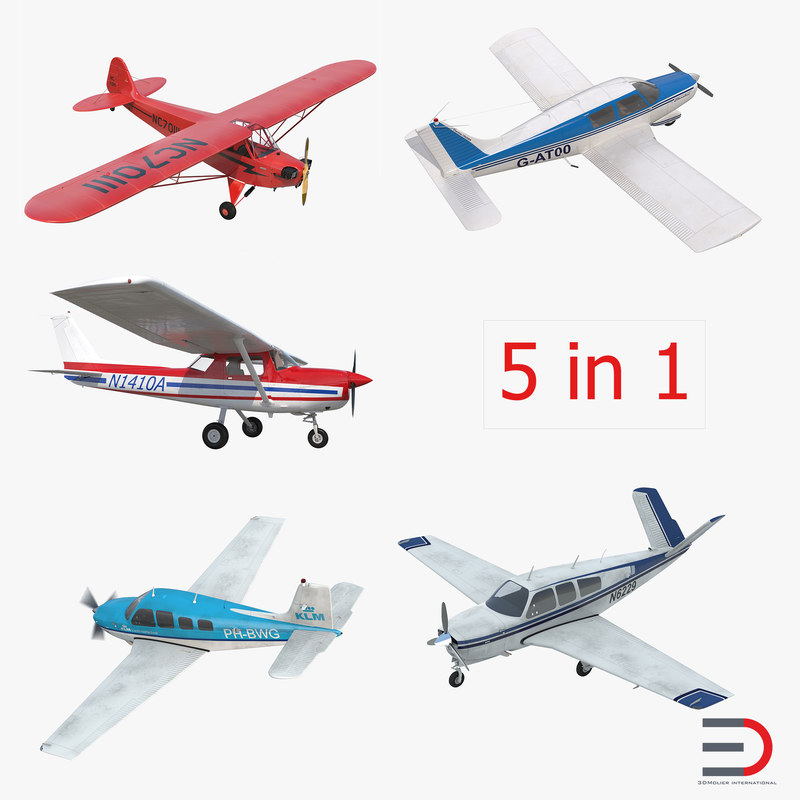 3d private airplanes v model