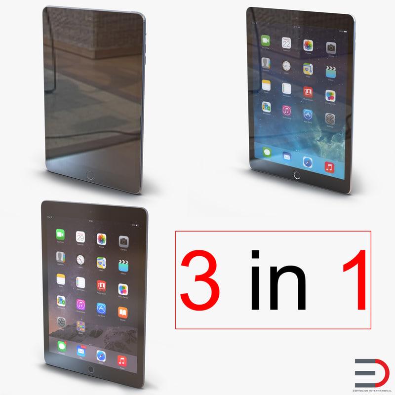 3d ipads 3 modeled model