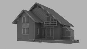 storey house 3d max