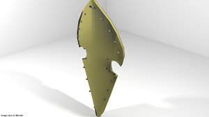 personal armor shield 3d model