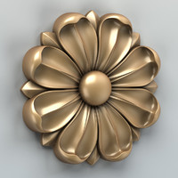carved rosette 3d max
