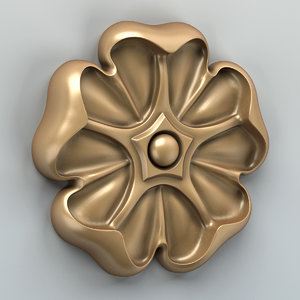 carved rosette max free