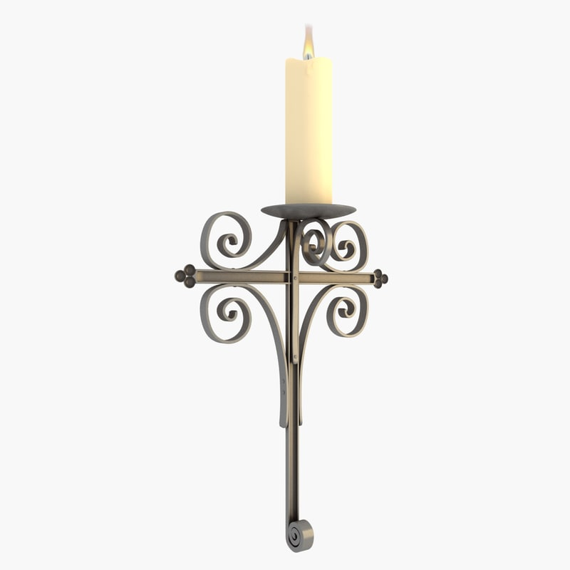 3d candle holder lighting