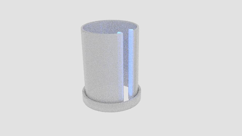 cylinder light 3d model