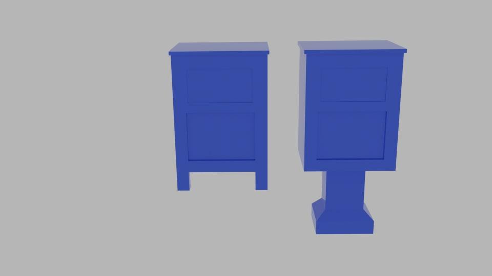 free post box 3d model