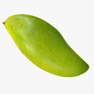 3d model green mango polys