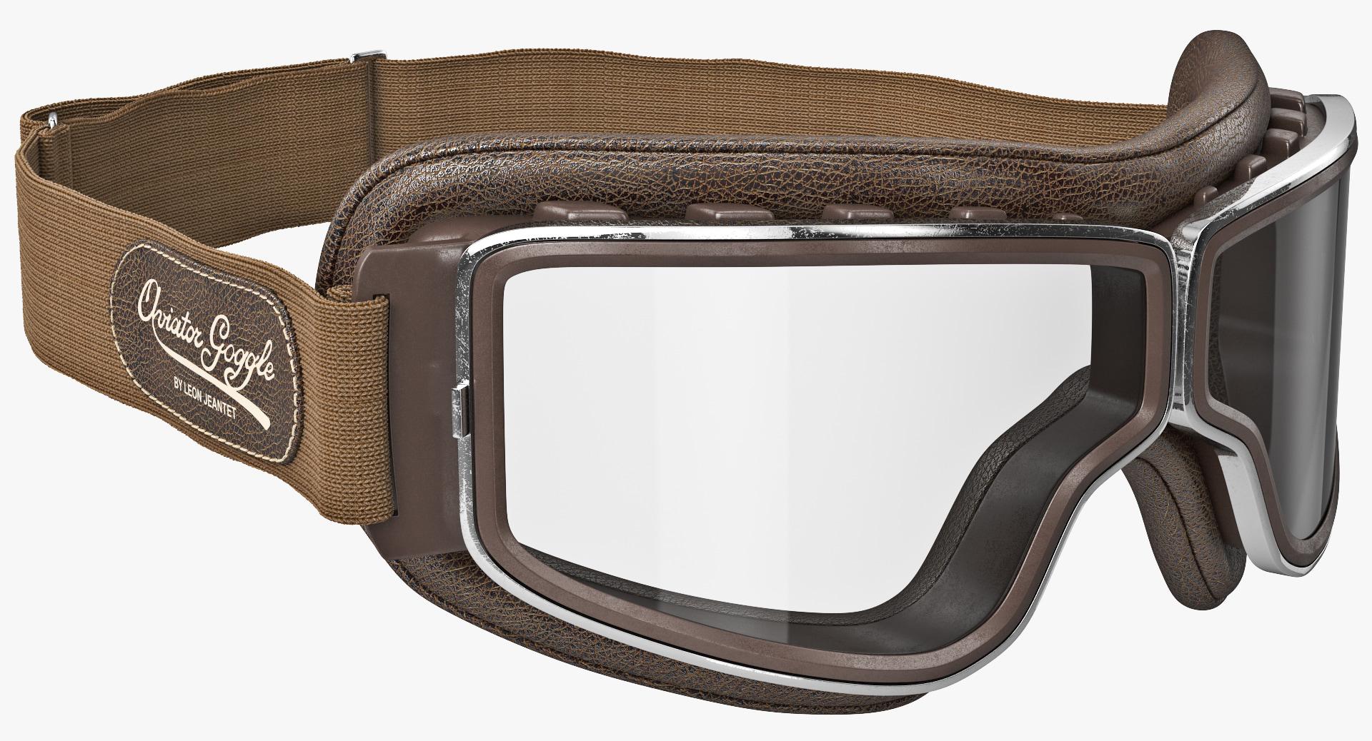retro pilot t1 goggles 3d model