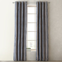 3d model curtains tailored stripe drapery