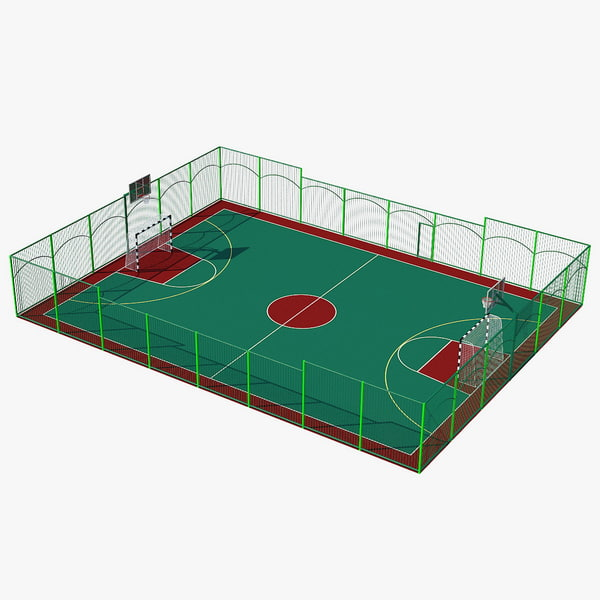 3d model multifunctional playground