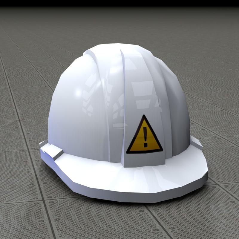 3d model worker helmets
