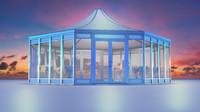 event tent 3d obj