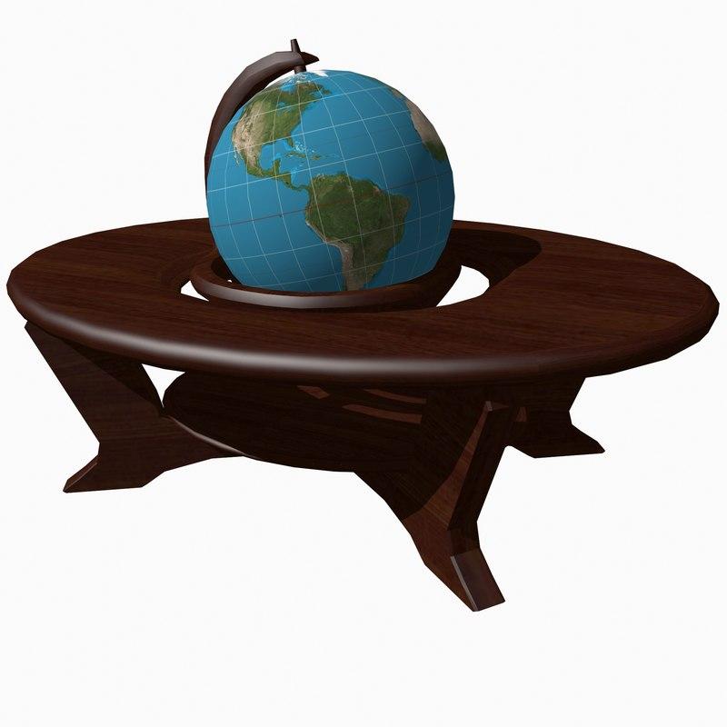 antique globe 3d model