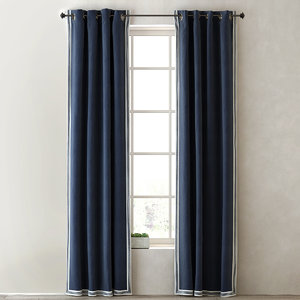 3d curtains ticking stripe border model