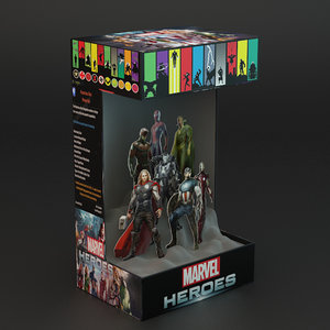 3d heroes promotion box model
