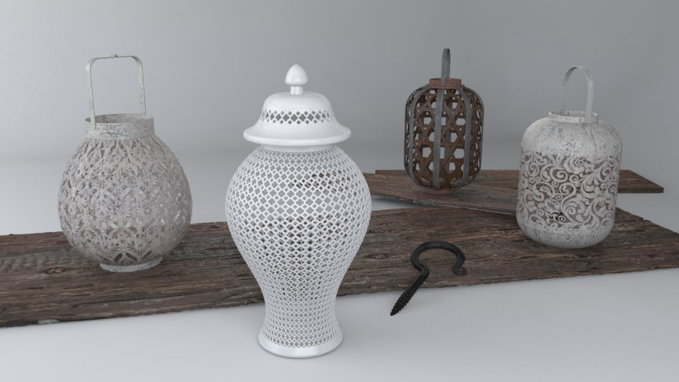 vases wood 3d ma