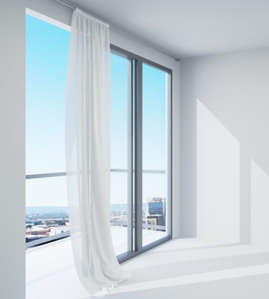 3d curtain version animation sliding