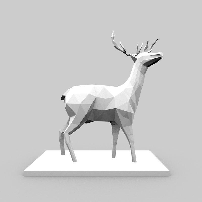 deer 3d c4d