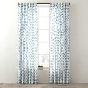 curtains ogee lattice drapery 3d max