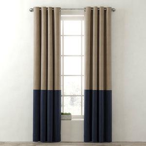 curtains colorblock cotton canvas 3d model